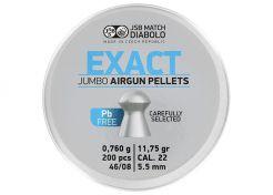 Luchtdrukkogeltjes JSB Exact Jumbo Lead Free 5.52 mm 11.75 grain