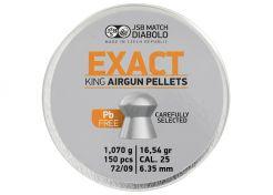 Luchtdrukkogeltjes JSB Exact King Lead Free 6.35 mm 16.54 grain