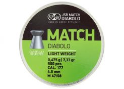Luchtdrukkogeltjes JSB Match Light Weight 4.5 mm 7.33 grain