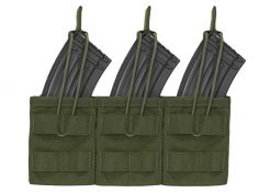 Mag Pouch Warrior Assault Systems Triple Molle Open AK 7.62 mm OD Green