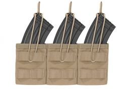 Mag Pouch Warrior Assault Systems Triple Molle Open AK 7.62 mm Coyote Tan
