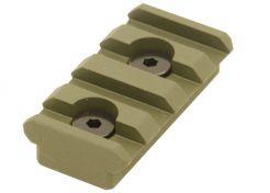 Montagerail UTG KeyMod Picatinny 4 Slots OD Green