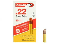 Ammunition Aguila High Velocity .22 LR RN 40 grain