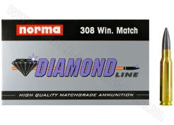 Kogelpatronen Norma Match Diamond Line .308 Win HP 168 grain