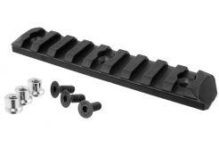 Picatinny rail PTS KeyMod 9 Slots Black