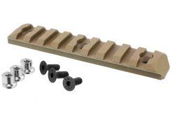 Picatinny rail PTS KeyMod 9 Slots FDE