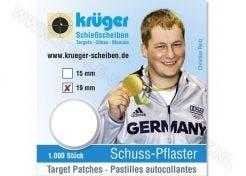 Kruger Schotplakkers 8719, 19 x 19 mm transparant