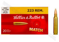 Kogelpatronen Sellier & Bellot Match .223 Rem HPBT 69 grain