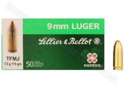 Ammunition Sellier & Bellot 9 mm TFMJ 115 grain NonTox