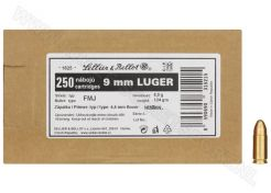 Kogelpatronen Sellier & Bellot Bulk FMJ 9 mm 124 grain
