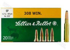 Kogelpatronen Sellier & Bellot .308 Win SP 180 grain