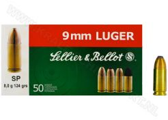 Kogelpatronen Sellier & Bellot 9 mm SP 124 grain