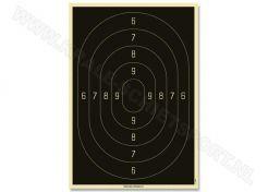 Service Pistol schijf klein kaliber 3201/60N (genummerd)
