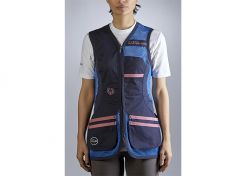 Shooting Vest Castellani Sport Rio Ladies Blue / Pink