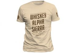 T-shirt Warrior Assault Systems Wiskey Alpha Sierra Coyote Tan