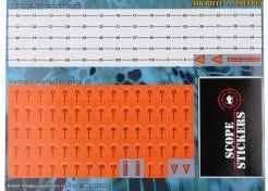 Turret Labels Scope Stickers Metres Orange