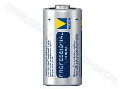 Battery Varta Professional Lithium CR123A 3V - 1400mAh