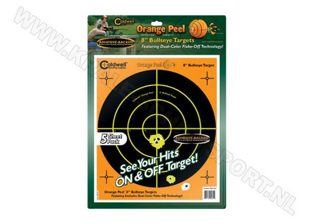 Orange Peel Caldwell bullseye targets 8""