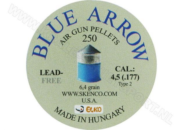 Luchtdrukkogeltjes Skenco Blue Arrow 4.5 mm 6.4 grain