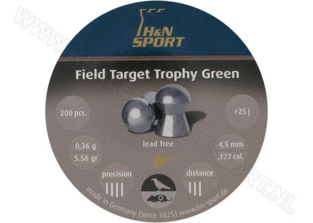Airgun Pellets H&N Field Target Trophy Green 4.5 mm 5.56 grain