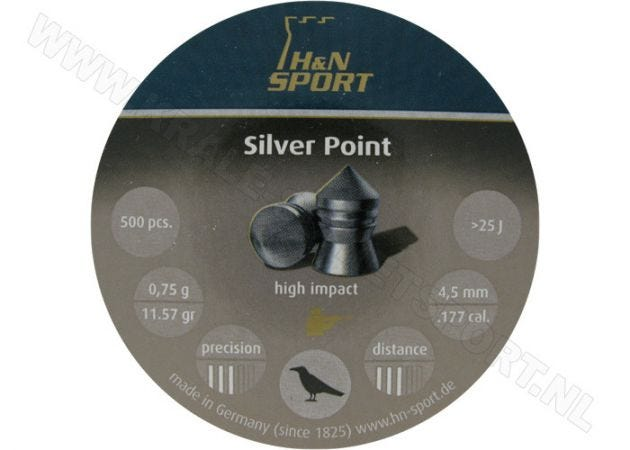 Airgun Pellets H&N Silver Point 4.5 mm 11.57 grain
