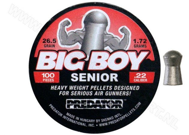 Luchtdrukkogeltjes Skenco Big Boy Senior 5.5 mm 26.5 grain