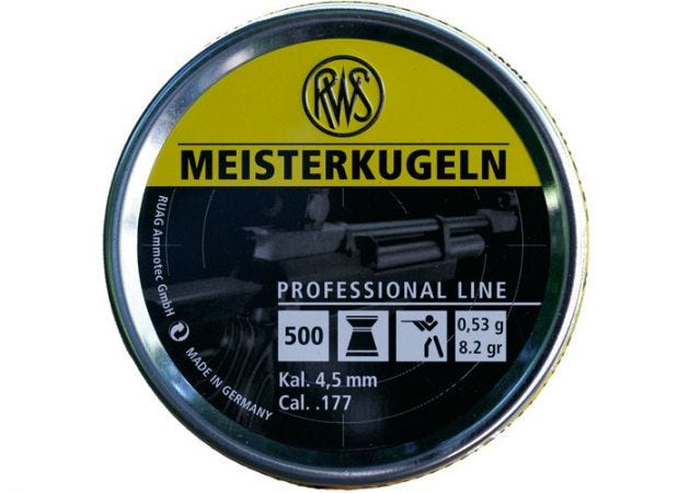Airgun Pellets RWS Meisterkugeln geel 4.5 mm 8.2 grain