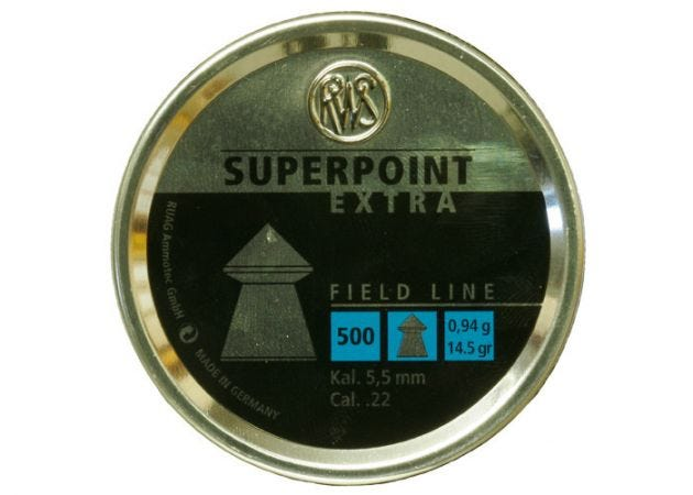 Airgun Pellets RWS Superpoint Extra 5.5 mm 14.5 grain