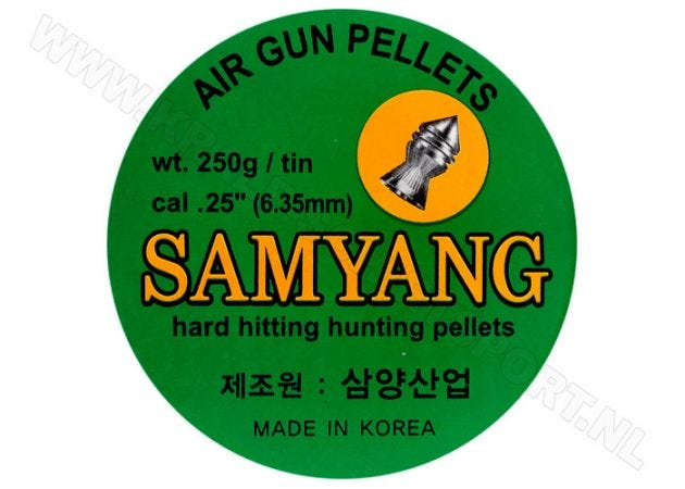 Airgun pellets Eun Jin/Samyang 6.35 mm 42 grain