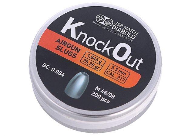 Slugs JSB Knock Out 5.5 mm 25.39 grain (.217)