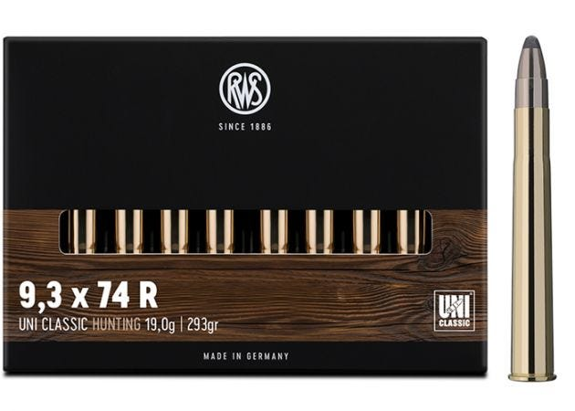 Kogelpatronen RWS 9.3x74R UNI Classic 293 grain