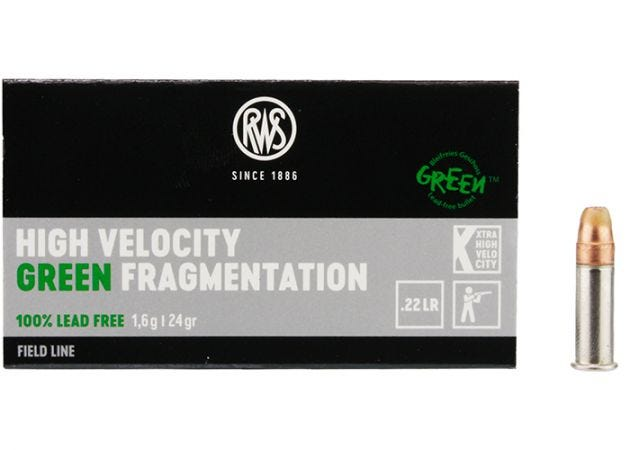Kogelpatronen RWS High Velocity Green Fragmentation .22 LR 24 grain
