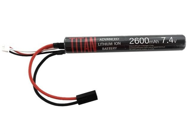 Batterij Titan Li-ion 7.4V 3000mAh Stick Mini-Tamiya