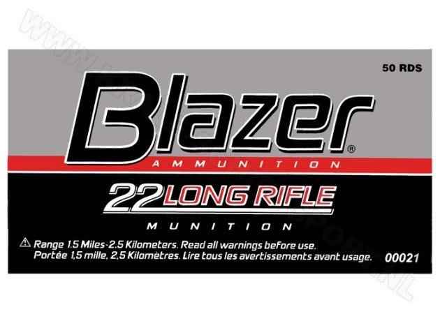 Kogelpatronen CCI Blazer .22 LR RN 40 Grain