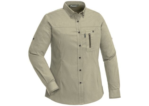 Blouse Pinewood Tiveden Insect-Stop Ladies Light Khaki