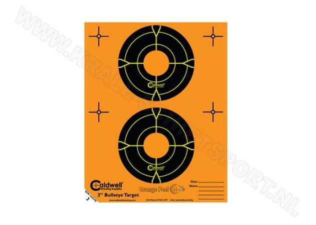 Orange Peel Caldwell bullseye targets 3""