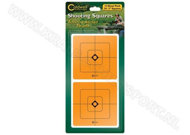 "Doelstickers Caldwell shooting squares oranje 3"""