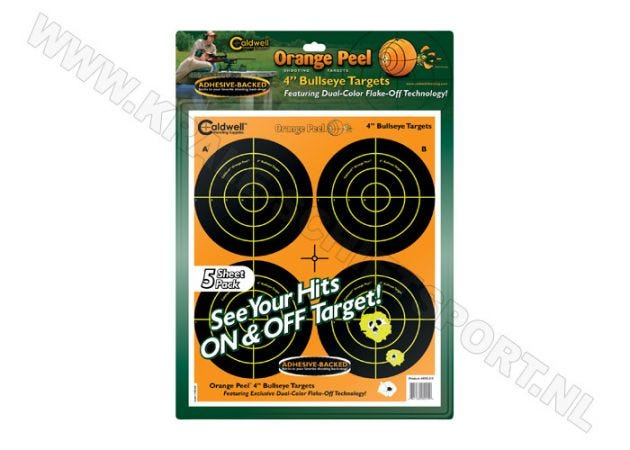 Orange Peel Caldwell bullseye targets 4""