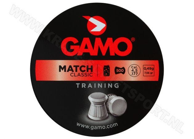 Airgun Pellets Gamo Match 4.5 mm 7.56 grain