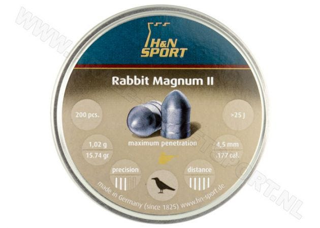 Airgun Pellets H&N Rabbit Magnum II 4.5 mm 15.74 grain