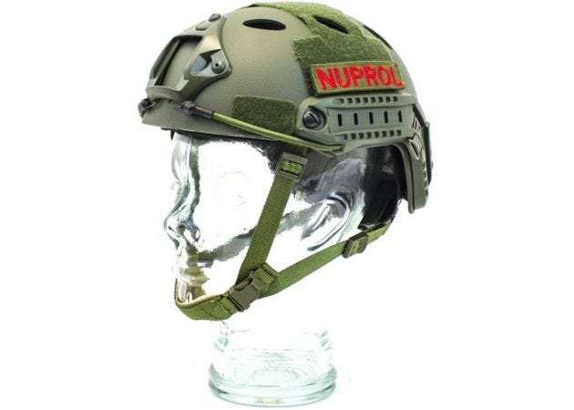 Helm Nuprol Fast Railed Green