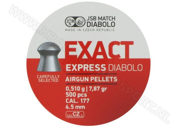 Airgun Pellets JSB Exact Diabolo Express 4.52 mm 7.87 grain