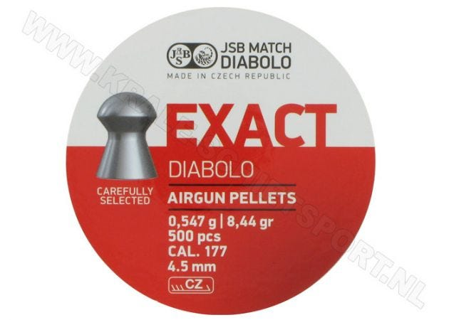 Airgun Pellets JSB Exact Diabolo 4.5 mm 8.44 grain
