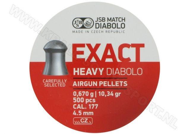 Airgun Pellets JSB Exact Diabolo Heavy 4.52 mm 10.34 grain