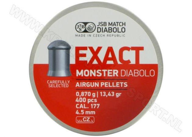 Airgun Pellets JSB Exact Monster 4.52 mm 13.43 grain