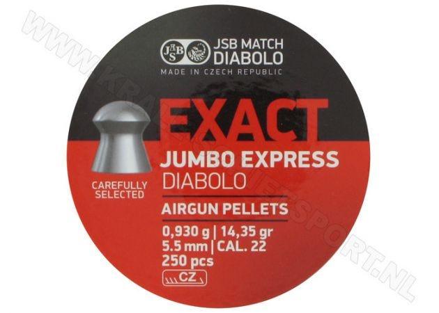 Airgun Pellets JSB Exact Diabolo Jumbo Express 5.52 mm 14.35 grain