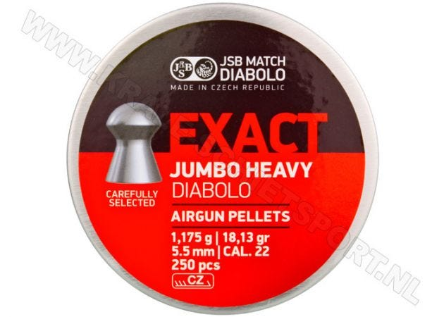 Airgun Pellets JSB Exact Diabolo Jumbo Heavy 5.52 mm 18.13 grain