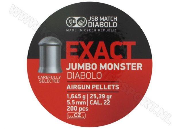 Luchtdrukkogeltjes JSB Exact Jumbo Monster 5.52 mm 25.4 grain