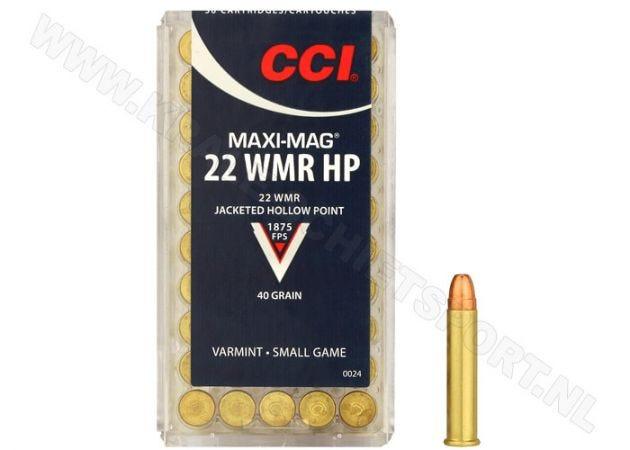 Ammunition CCI Maxi Mag HP.22 WMR JHP 40 Grain
