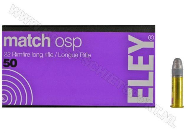 Kogelpatronen Eley Match OSP .22 LR RN 40 Grain